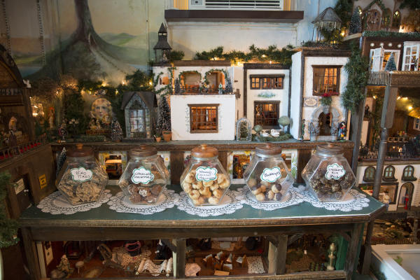 Fly By Night Cookie Company - interior with jars of cookies on display