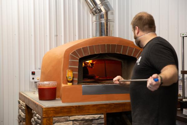 Wood Fired Pizza from Lunkenheimer Brewing Company in Weedsport NY - OUR Cayuga