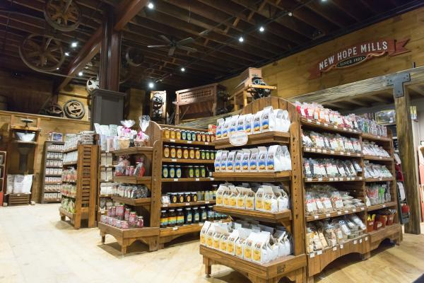 New Hope Mills Store - featuring a wide selection of locally made pancake mixes and more