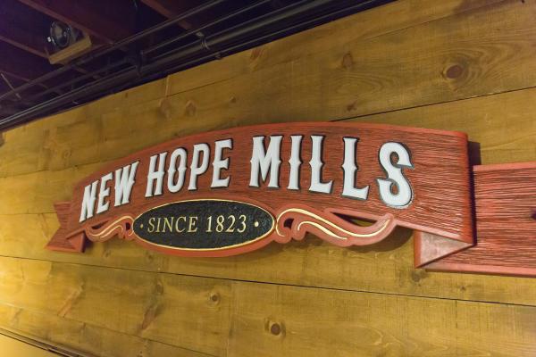 New Hope Mills signage
