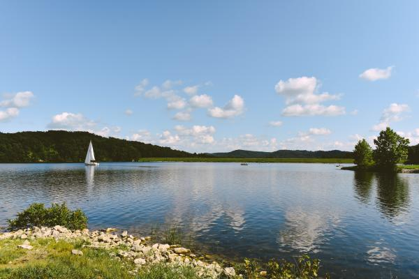 Sailboat On Deam Lake