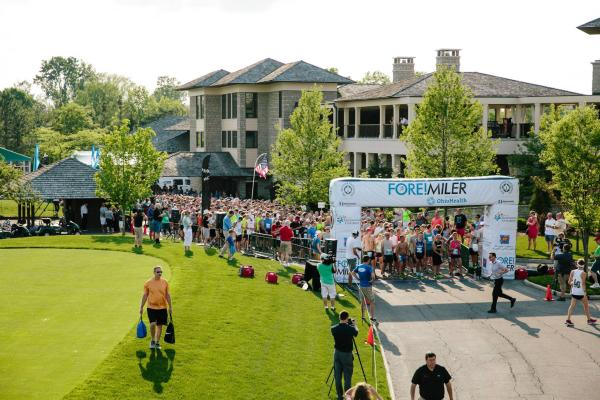 Start of the FORE! Miler race at Muirfield Village Golf Course.