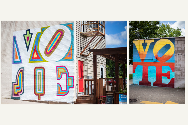 Vote Murals Collage on Ramone's & Details in Eau Claire, WI