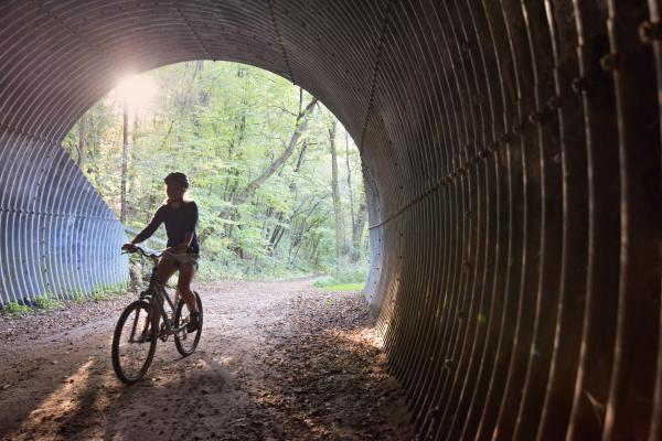 Biking on Putnam Park Trail