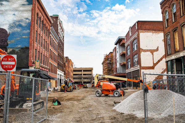 The Landing Under Construction April 2019 in Fort Wayne, Indiana