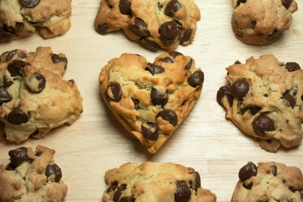 Heart Shaped Chocolate Chip