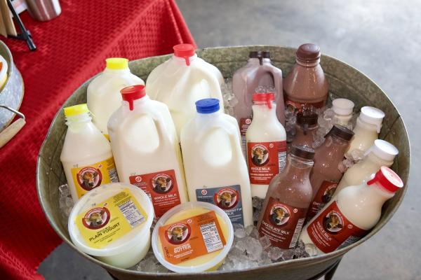 Milk at the farmer's market