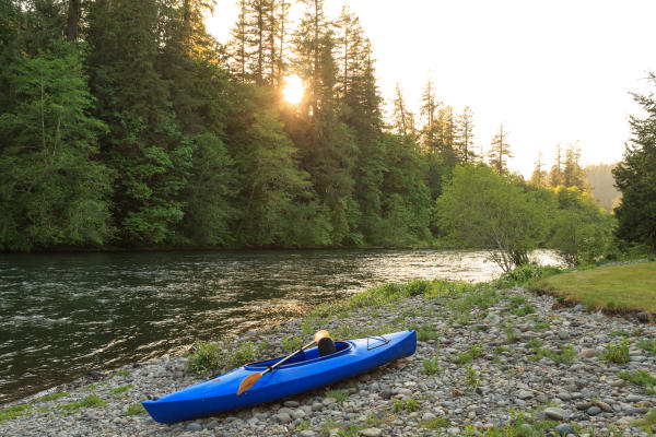 Kayaking on the McKenzie River by Eagle Rock Lodge by Jumping Rocks Photography