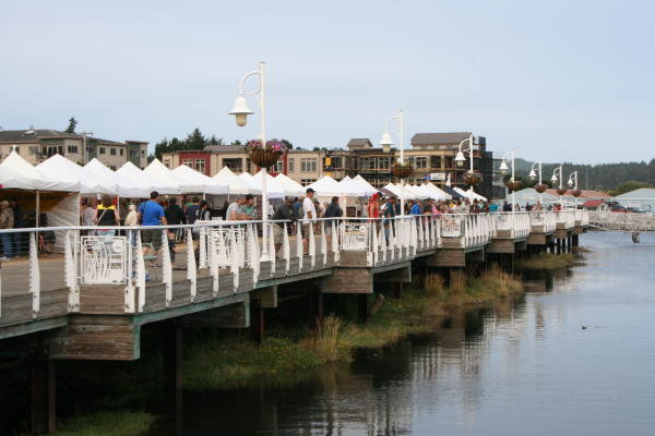 Florence Farmers Market on the Boardwalk by Taj Morgan
