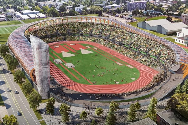 Hayward Field Renovation Rendering