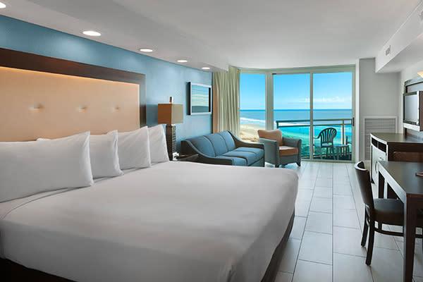Captain's Quarters Oceanfront Resort, Myrtle Beach, SC Room with Ocean View