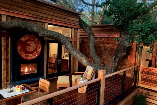 Calistoga Ranch fireplace