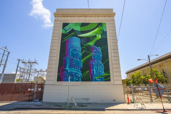 """Know Your Ancestors"" Mural painted for Oakland Mural Festival"