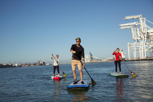Paddleboard on Oakland Estuary