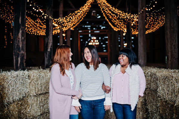 Women at the Schilter Family Farm during Christmas