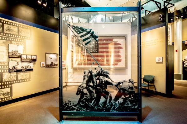 Iwo Jima Flag at National Museum of the Marine Corps