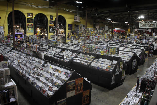 rows of records, cds and more at Record Archive
