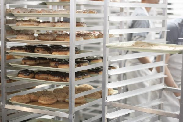 Stock donut racks