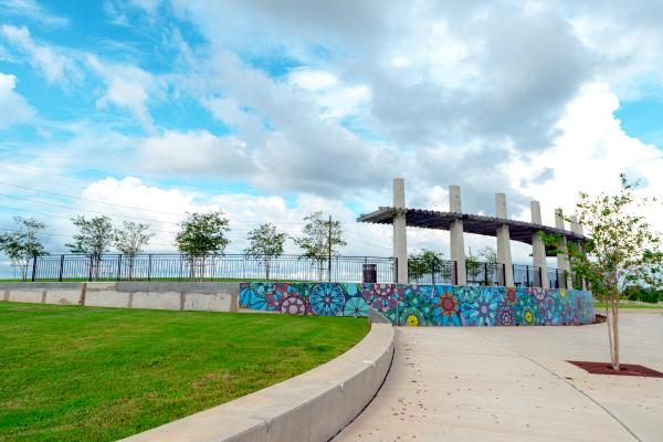Brazos River Park Mosaic Wall  - Sugar Land, Texas