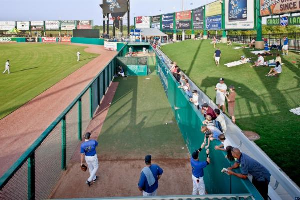Grassland seating at Constellation Field.