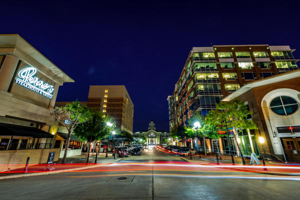 Sugar Land Town Square Night Time