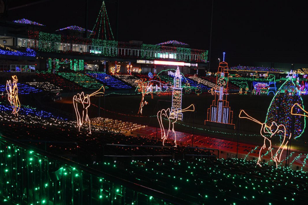 Holiday lights display.