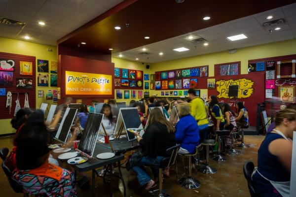 Class at Pinot's Palette