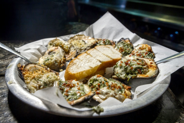 Char grilled Oysters