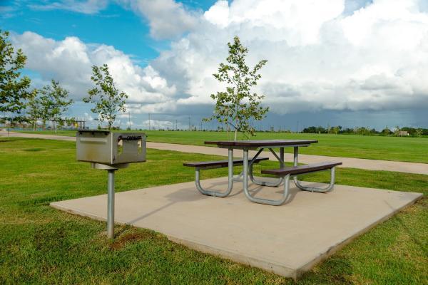 Picnic table at Brazos River Park.