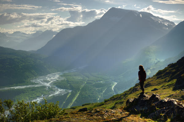 Overlooking Paradise in Thompson Pass