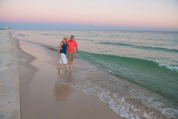 Beach Walk at Dusk