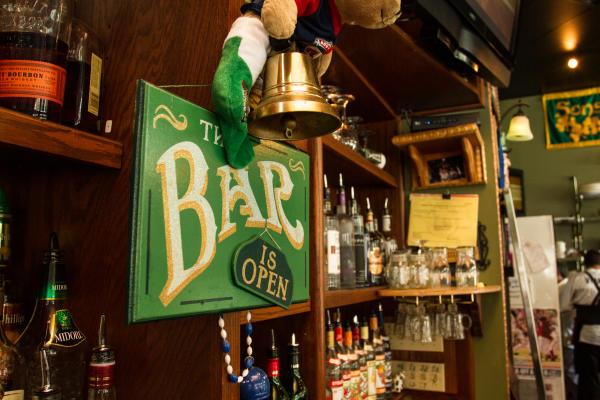 Murphy's Irish Bar with Irish Green Open Sign