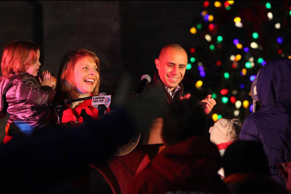 Providence City Hall Tree Lighting with Mayor Jorge Elorza