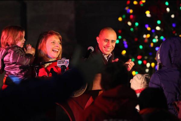 Providence City Hall Tree Lighting with Mayor Jorge Elorza
