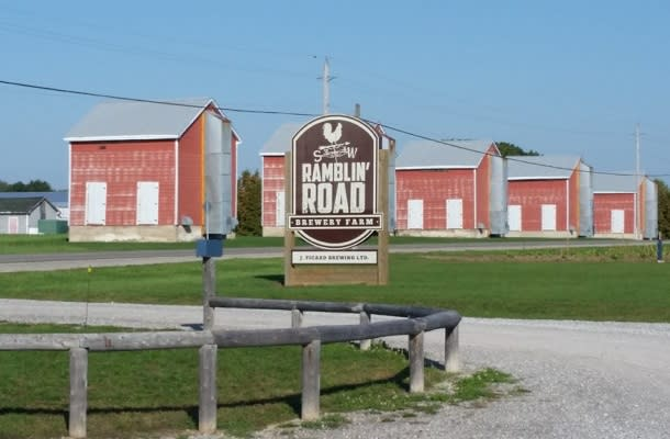 Ramblin Road Brewery sign