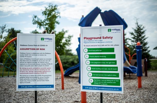 Sign at playground