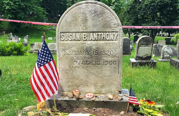 Susan B. Anthony grave
