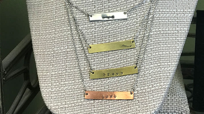 Seize the Night Designs Name Plate Necklace