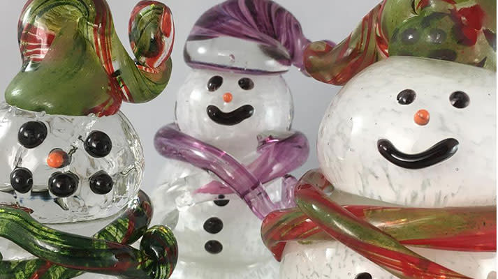Hot Blown Glass Snow People