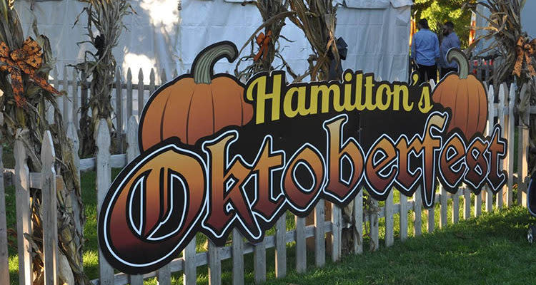 Hamilton NJ Oktoberfest Signage and picket fence