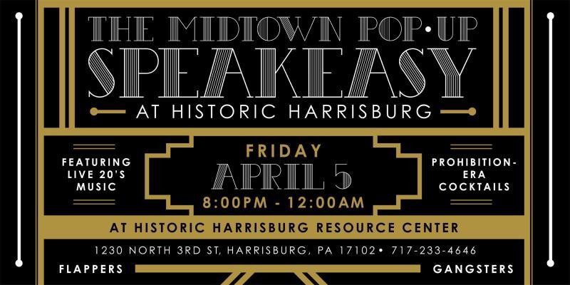 Pop-up Speakeasy Poster