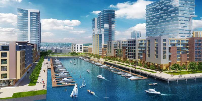 Artist Rendering of Brooklyn Basin District in Oakland