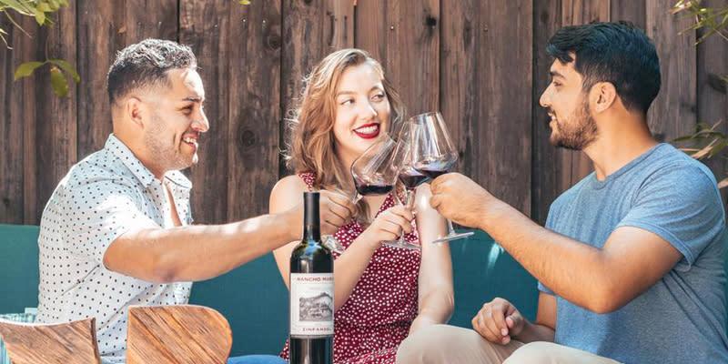 Three Sonoma friends enjoying Rancho Maria wine