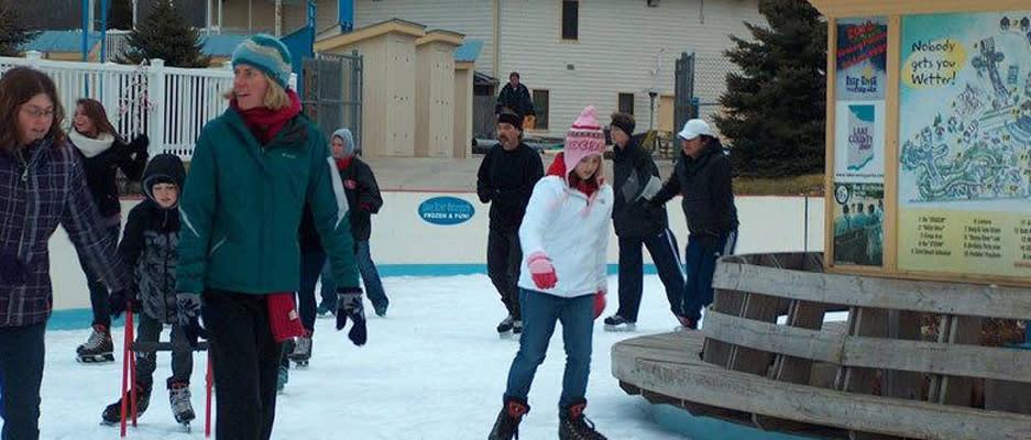 Ice Skating at Deep River Waterpark