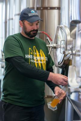 James Coasta Brewmaster at HMB Brewing Co.