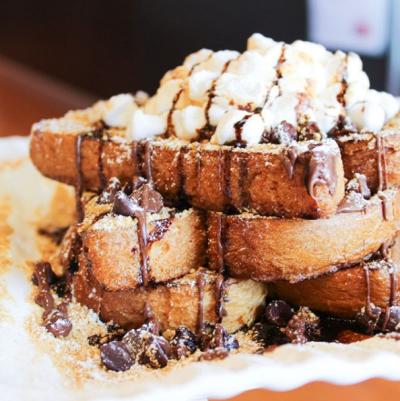 Marshmallow Nutella French toast.