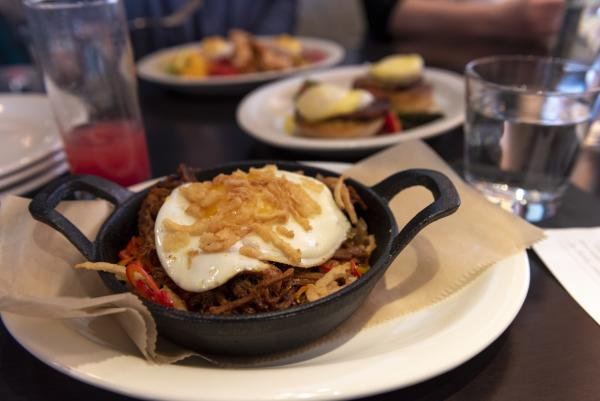 Smoked Pork Hash Brunch item at Conner's Kitchen + Bar in Fort Wayne, Indiana