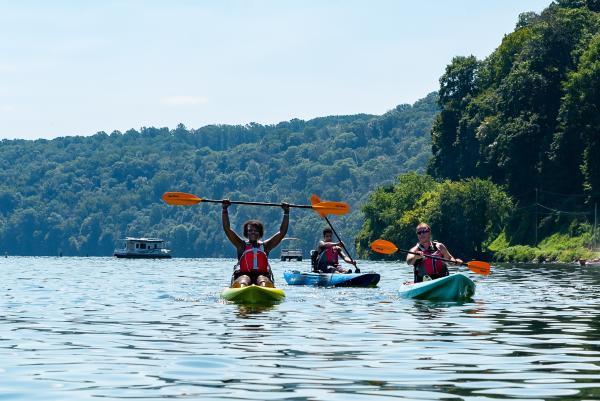 people kayaking on a lake in York PA