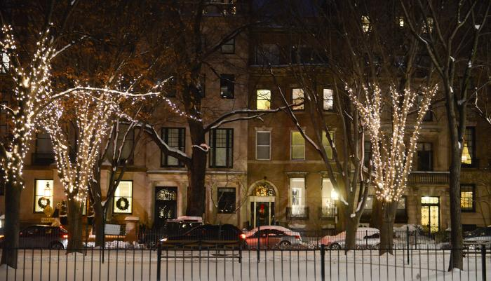 Boston's Holiday Lights Trail - Commonwealth Avenue