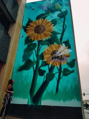 Downtown Topeka Sunflower Mural | Topeka, KS Rebekah Baughman